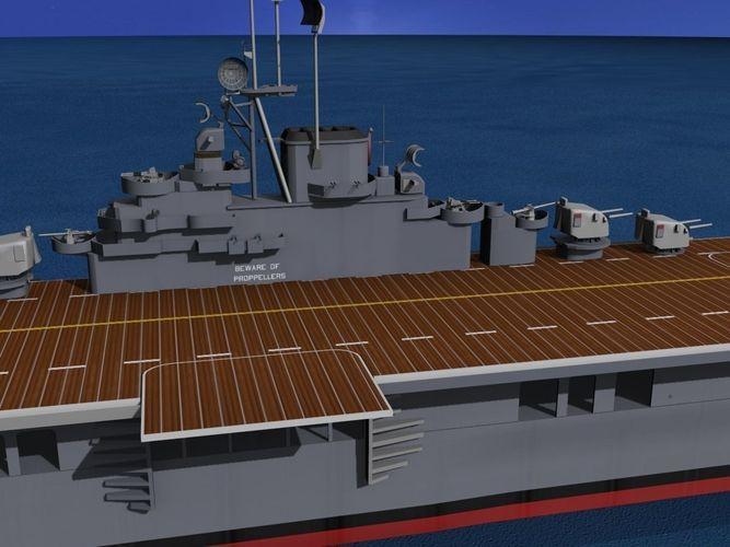 Essex Class Aircraft Carrier CV-18 USS Wasp3D model