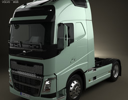 3d volvo fh tractor truck 2012