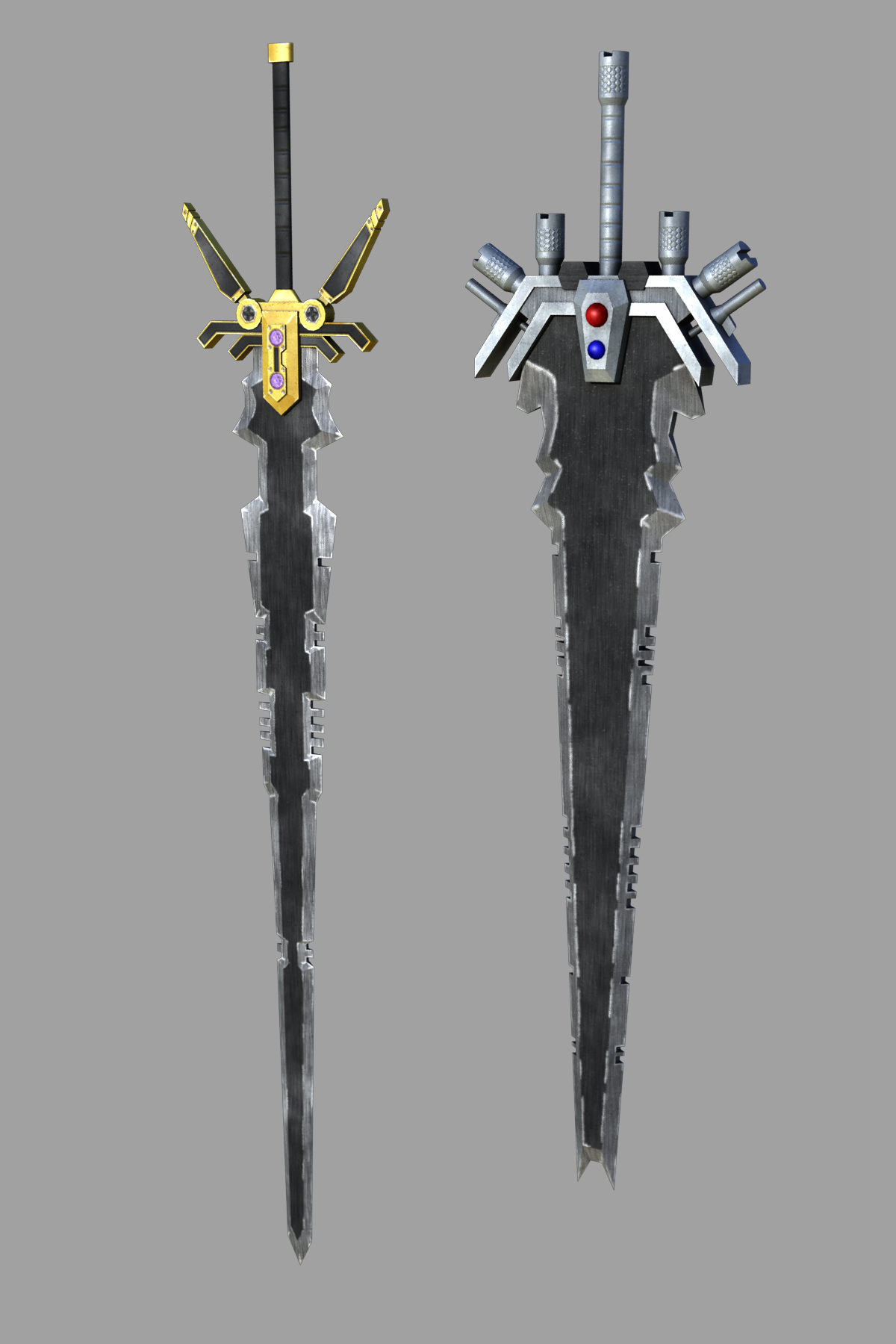 3D model Fantasy Greatswords Game Ready VR / AR / low-poly ...