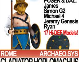Roman Gladiator Hoplomachus Props Poser Daz 3D Model