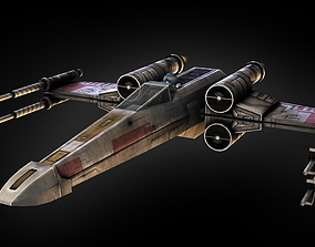 3D asset rigged X-Wing Fighter