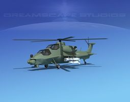 WZ-10 Attack Helicopter V01 3D Model