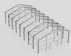 3D model Hangar industrial construction