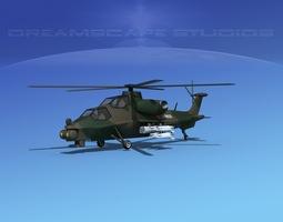 WZ-10 Attack Helicopter V04 3D Model
