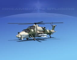 WZ-10 Attack Helicopter V05 3D Model