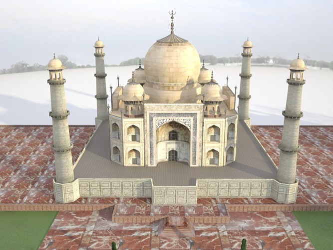 Taj Mahal 3d Image: Taj Mahal Palace 3D Model .max .obj .fbx .c4d