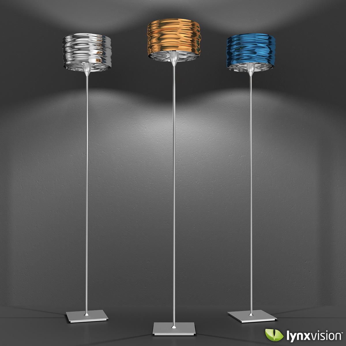 aqua cil terra floor lamp artemide 3d model max obj fbx c4d lwo lw lws - Artemide Lighting