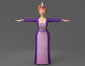 Cartoon fat woman 3D