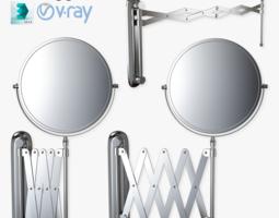 scissor wall mirror rigged 3d model max obj fbx