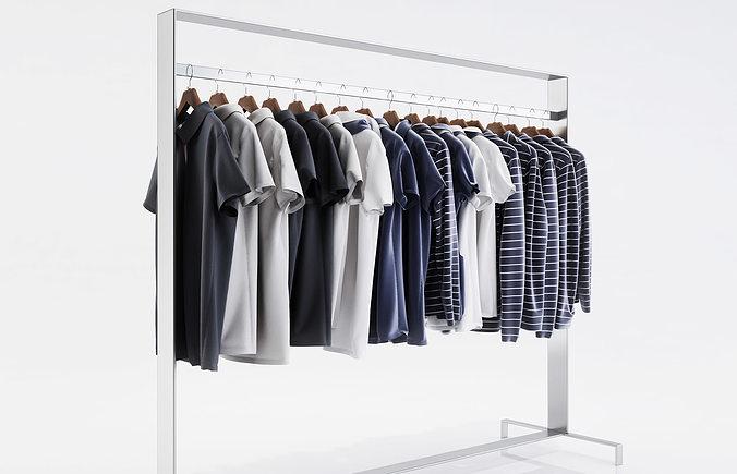 various t-shirts and thin sweaters 3d model max obj mtl fbx c4d 1