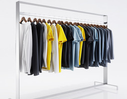 T-Shirts for men 3D model