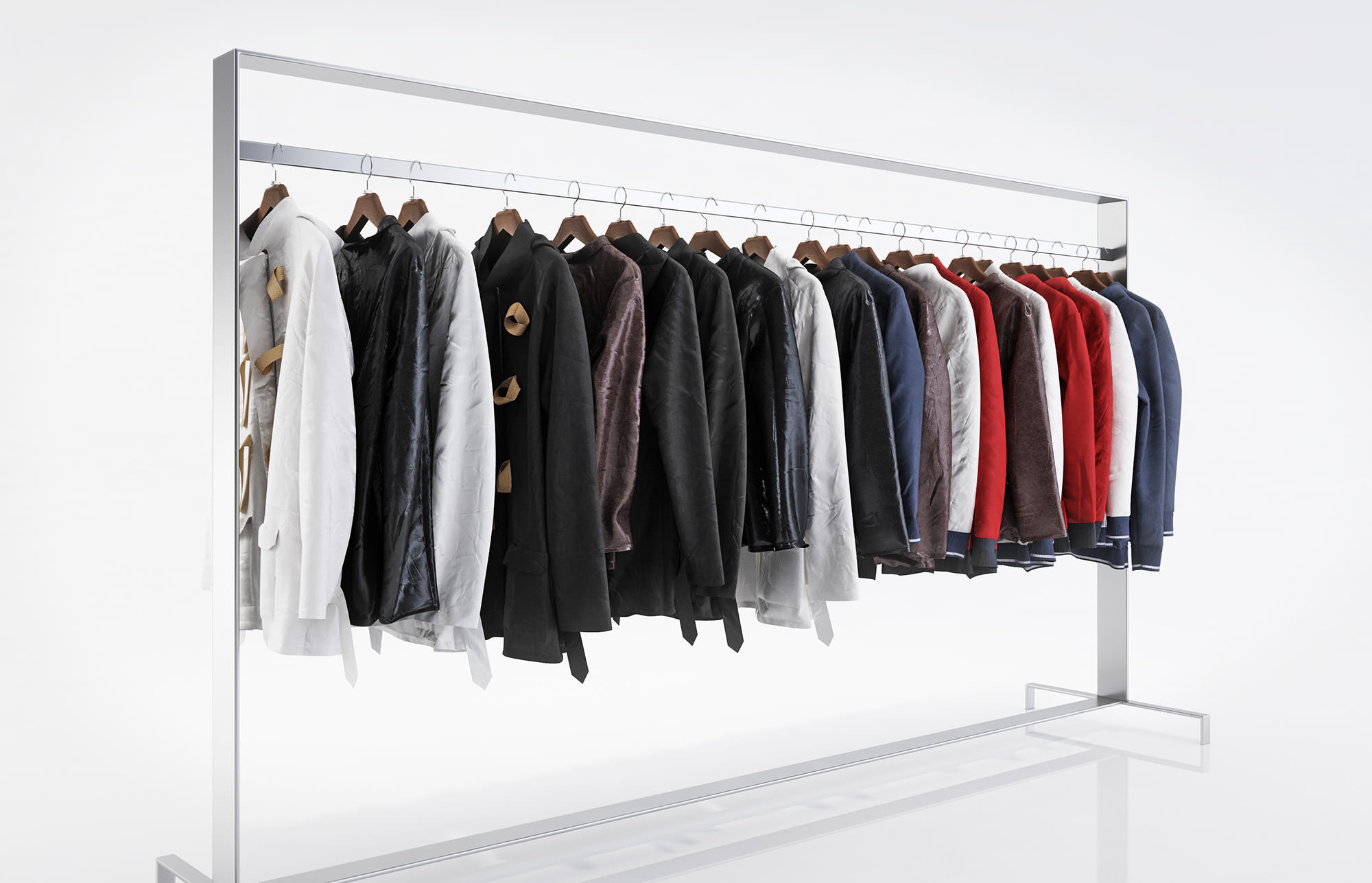 Various types of jackets
