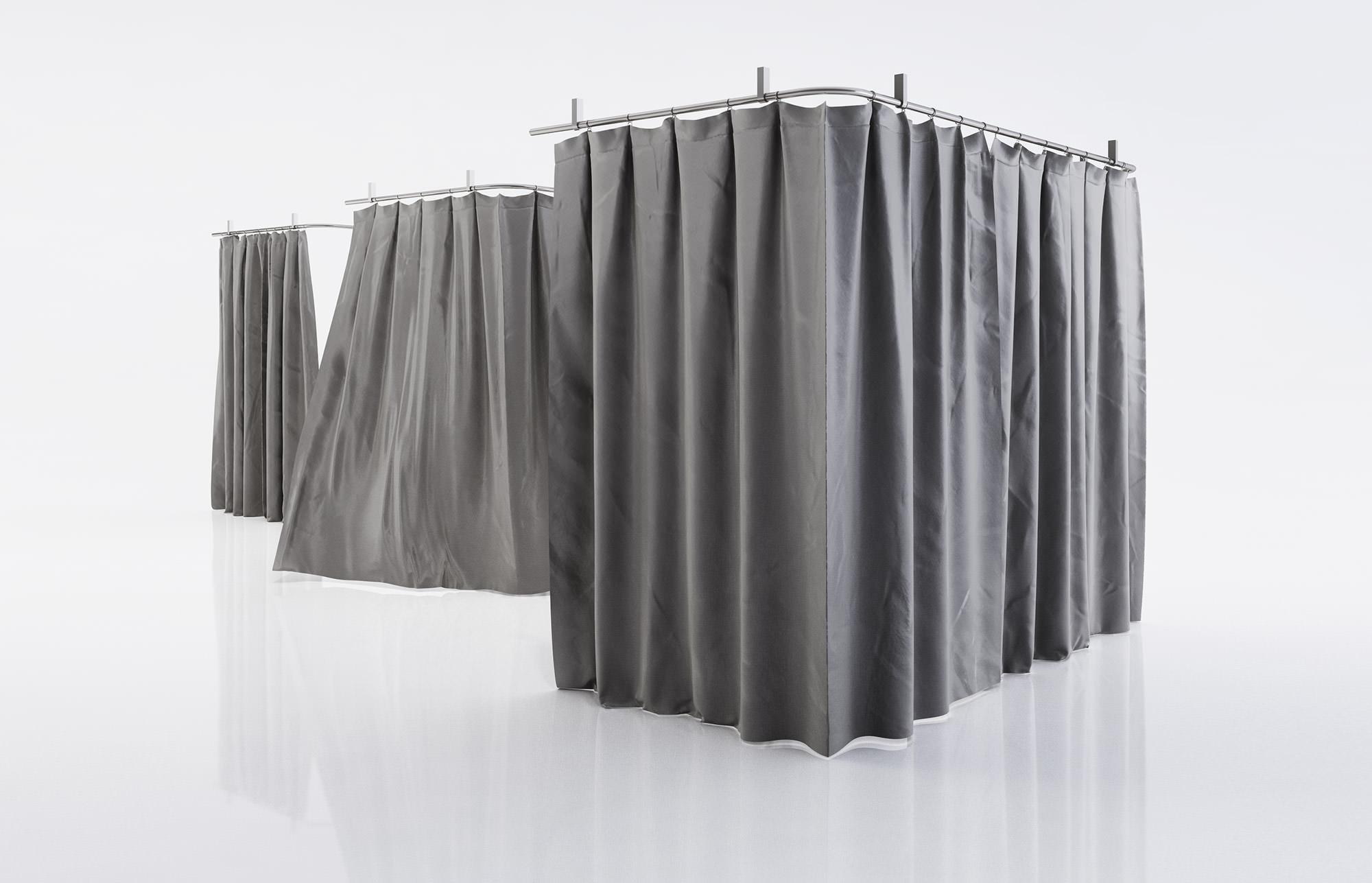 Black Shower Curtains 3D Model .max .obj .fbx .c4d
