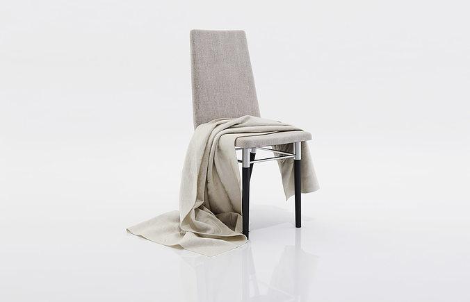 grey thin blanket 3d model max obj mtl fbx c4d 1
