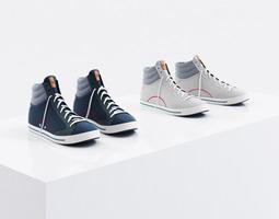 3d high sneakers