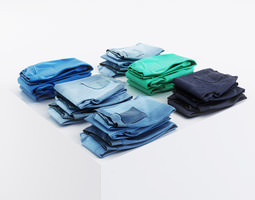 3D model Multicolored pants