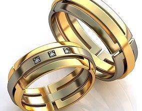 3D printable model jewelry Gold Metal Rings