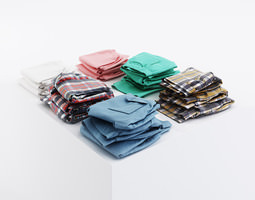 3D model Bundle of various shorts