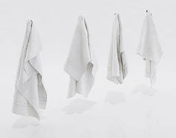 white towels 3d model