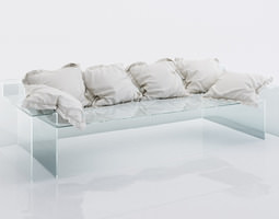 3D model Grey cushions for sofa