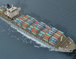 3D asset Cargo Container Ship