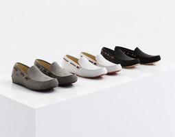 Fabric shoes 3D model