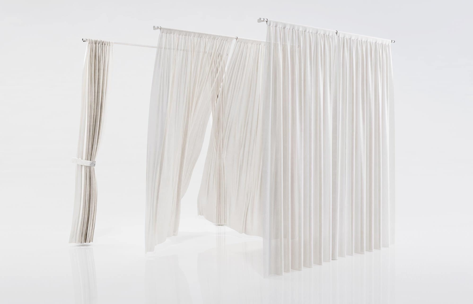 White See Through Window Curtains 3d Model Max Obj Fbx