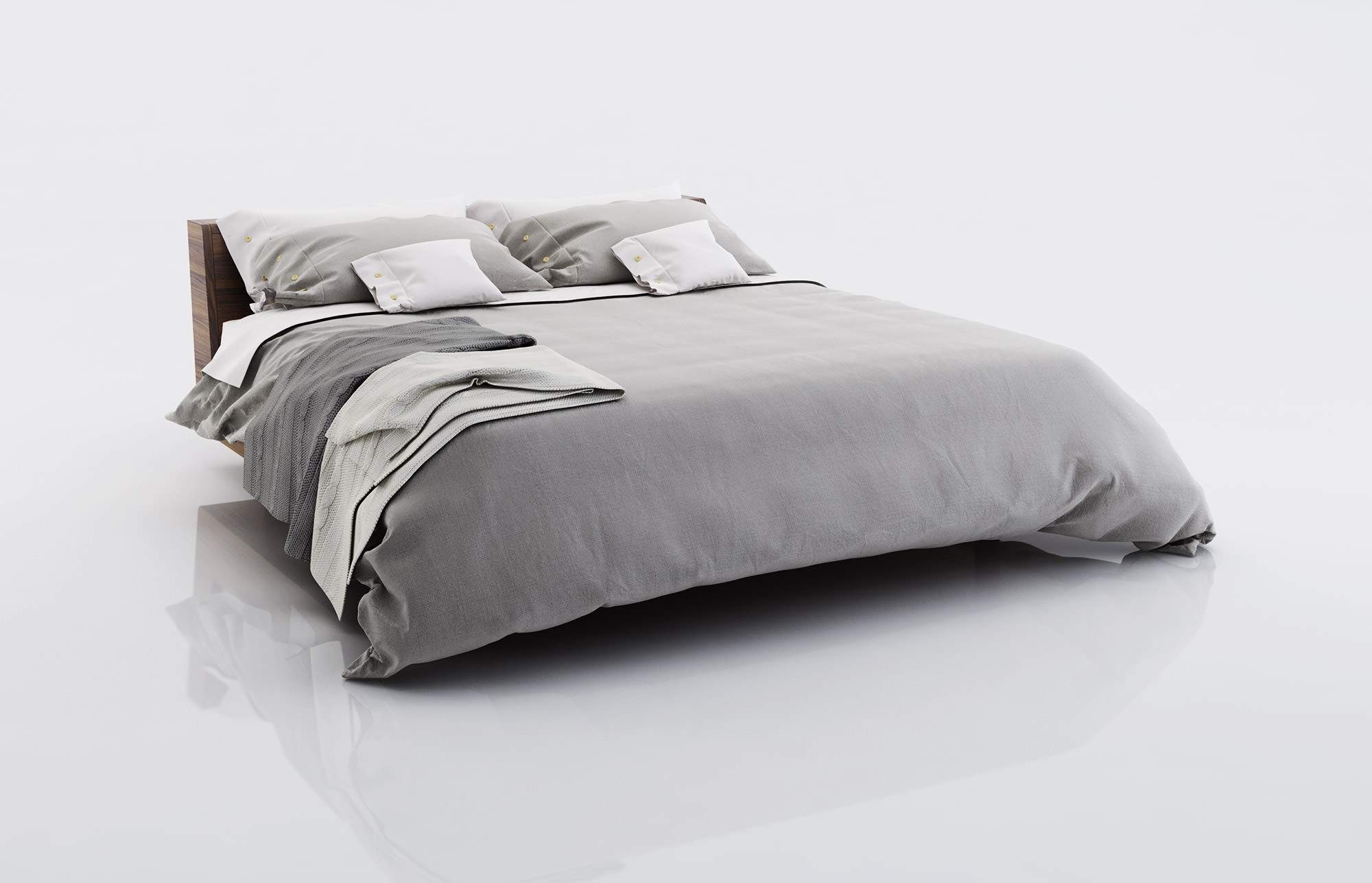 3d Bed Linen With Blankets Cgtrader