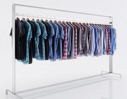 various shirts for men 3d model