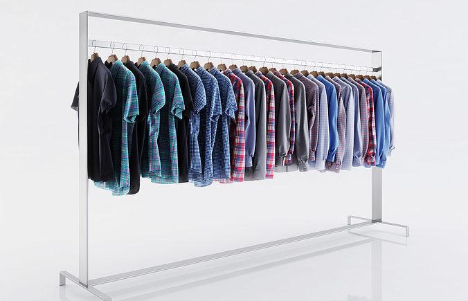various shirts for men 3d model max obj mtl fbx c4d 1