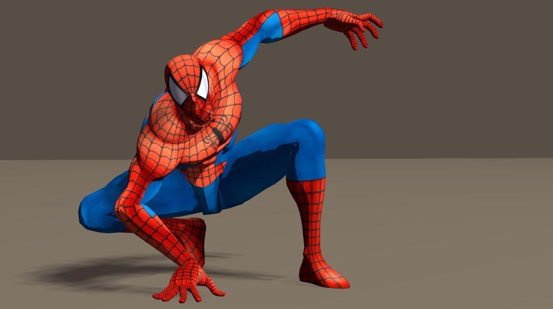 Spiderman from Marvel vs Capcom game Poser riggd