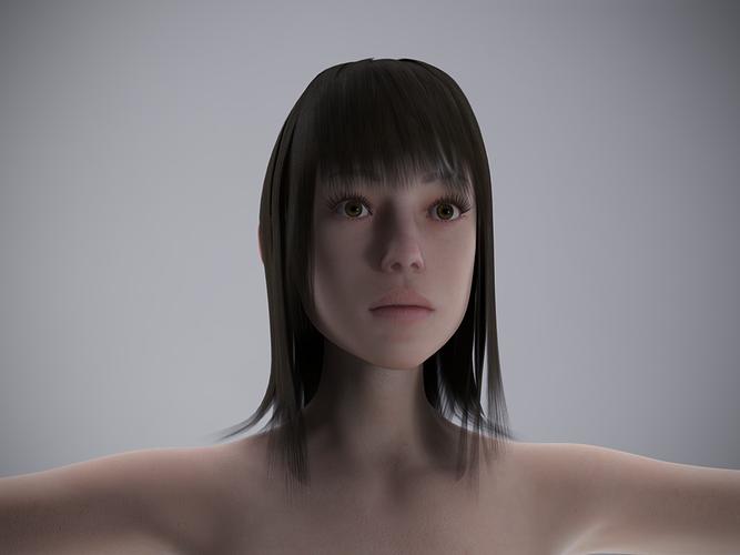 effy for genesis 2 female 3d model obj ztl duf 1