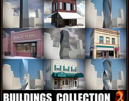 3D asset Buildings collection 2