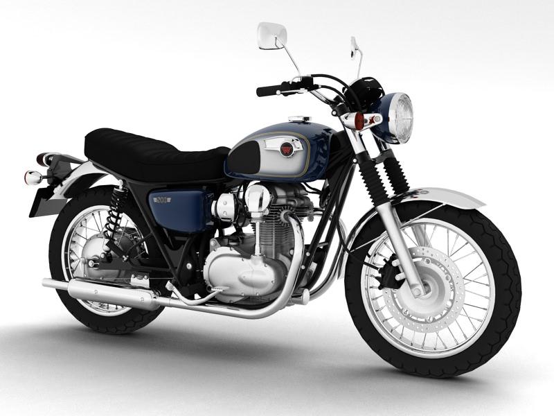3d Model Kawasaki W800 2014 Cgtrader