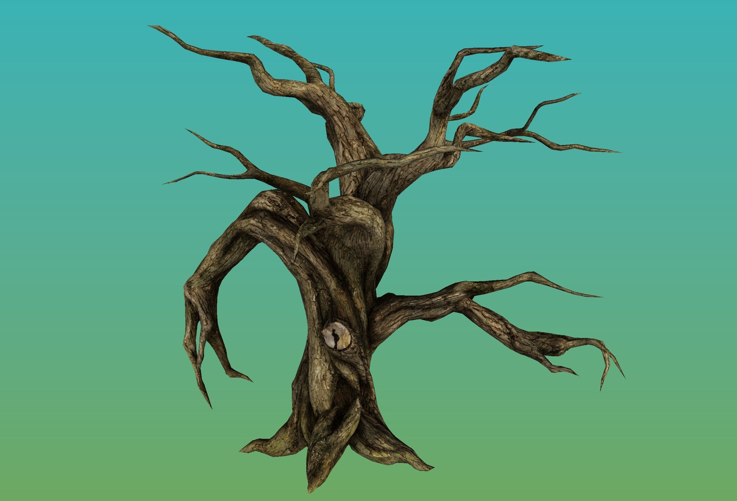 3d Model Ent Monster Tree 2 Cgtrader Nature landscape, cartoon trees plants green grass background material, green trees illustration png clipart. ent monster tree 2 3d model