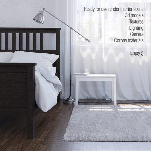 interior scene corona render a6 3d model max 1