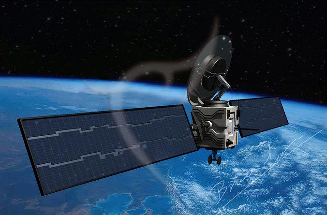 satellite 3d model obj mtl 3ds fbx dxf dae dwg 1