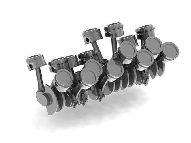 W16 Engine Cranktrain free 3D Model | CGTrader.com