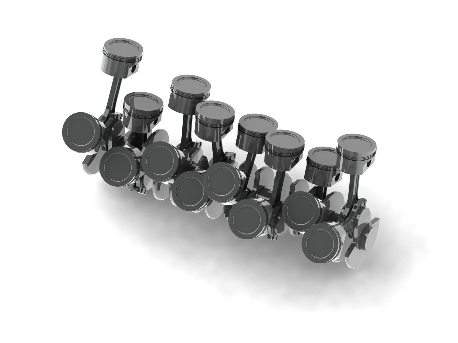 w16 engine cranktrain free 3d model. Black Bedroom Furniture Sets. Home Design Ideas