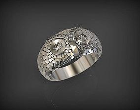 3D printable model Owl Ring 2 gems