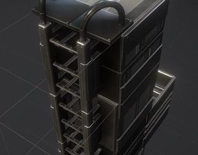 3D model Modular Sci-Fi Ladders Basic Version