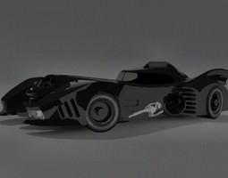 VR / AR ready batmobile 3d asset