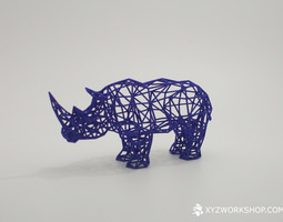 digital safari- rhino small 3d printable model
