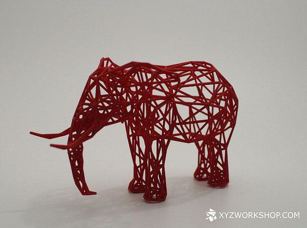 Digital Safari Elephant Small 3d Printable Model