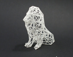 digital safari - lion 3d print model