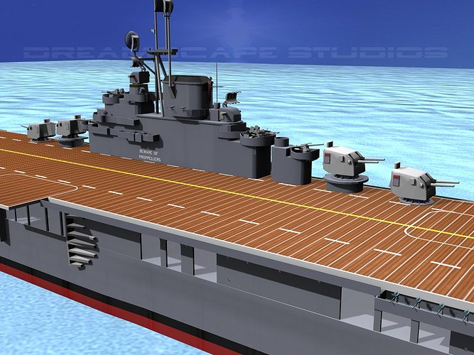 ticonderoga class carrier cv-19 uss hancock 3d model rigged animated max obj 3ds lwo lw lws dxf stl 1