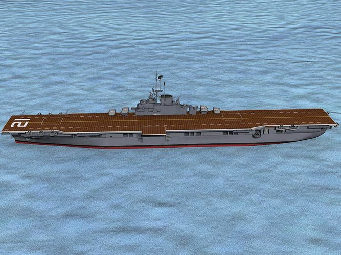 ticonderoga class carrier cv-21 uss boxer 3d model animated max obj 3ds lwo lw lws dxf stl 1