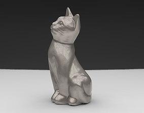 3D print model seated cat