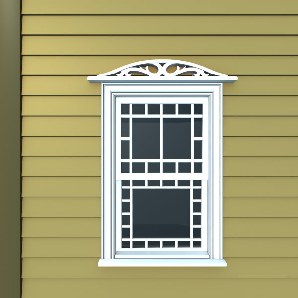 Window header 2 3d model max obj fbx ma mb for Exterior 3d model
