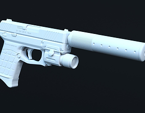3D Tactical pistol High Poly